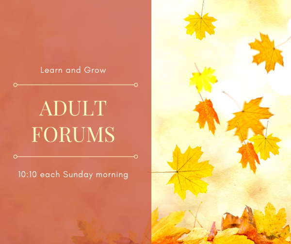 Adult Forum with Joyce Henderson